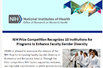 """Mass General Brigham is one of the recipients of Honorable Mentions by NIH for """"Promoting Women Scientists during COVID and Beyond"""""""