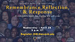 Remembrance, Reflection & Response - A community space for sharing and self-care