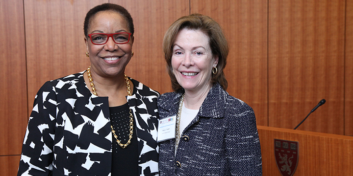 Joan Y. Reede, MD, MPH, MS, MBA, Dean for Diversity and Community Partnership; Nancy Tarbell, MD, Dean for Academic and Clinical Affairs