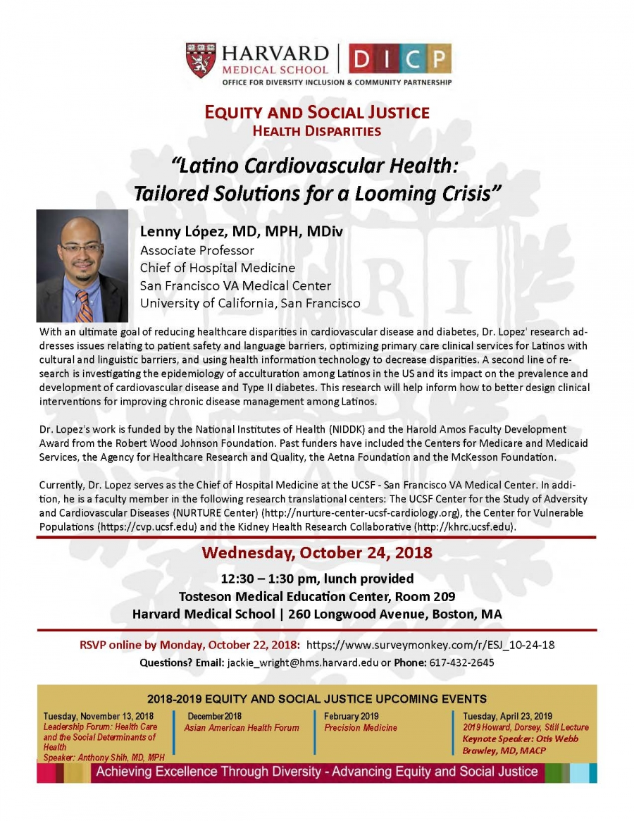 Equity and Social Justice Event: Latino Health   The Office