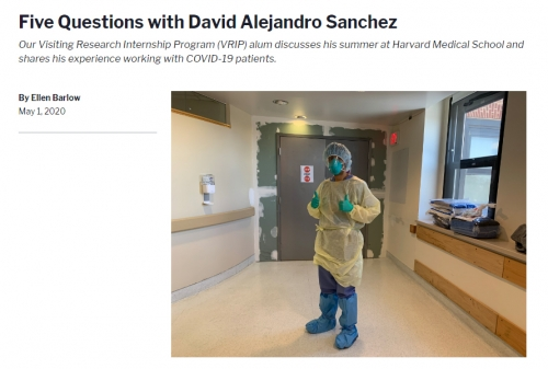 Five Questions with David Sanchez